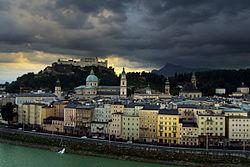 Salzburgo, ciudad monumental en una región de hermosos paisajes