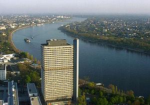 Alemania, tres ciudades cercanas junto al rio Rhin
