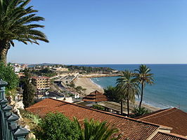 Tarragona, España, antigua ciudad romana frente al Mediterráneo